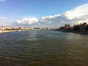 Die durch Budapest fließende Donau